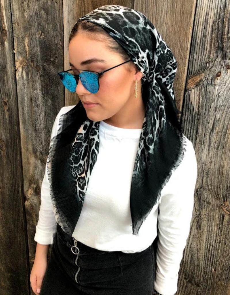 The Scarf Bar The Scarf Bar Cheetah Dip Headscarf