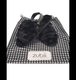 Zubii Zubii Houndstooth Fur Slingbacks