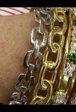 Jeweliette Jewels Jeweliette Gold Round Link Bangle