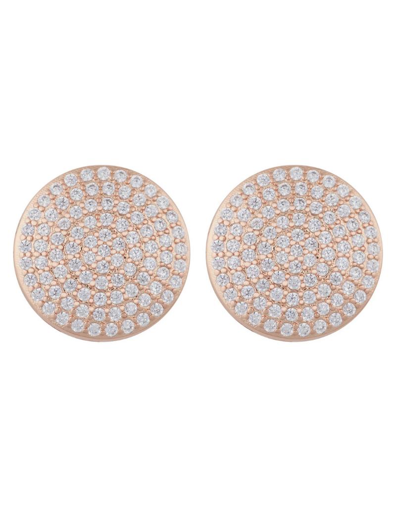 Jeweliette Jewels Jeweliette Rose Gold Cluster Earrings