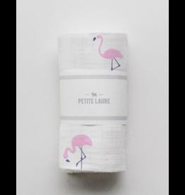 Petite Laure Petite Laure Swaddle Flamingos