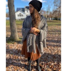 The Scarf Bar The Scarf Bar Luxe Gingham Blanket Scarf
