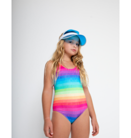 Stella Cove Stella Cove Girls Rainbow Tank Swimsuit