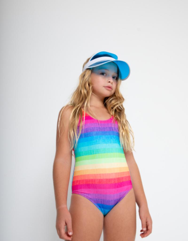 Stella Cove Stella Cove Girls Rainbow Tank Swimsuit