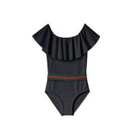 Stella Cove Stella Cove  Girl  Draped Swimsuit with Belt
