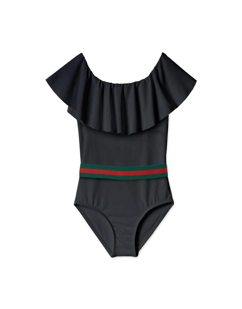 Stella Cove Stella Cove  Girl  Draped Swimsuit with Belt