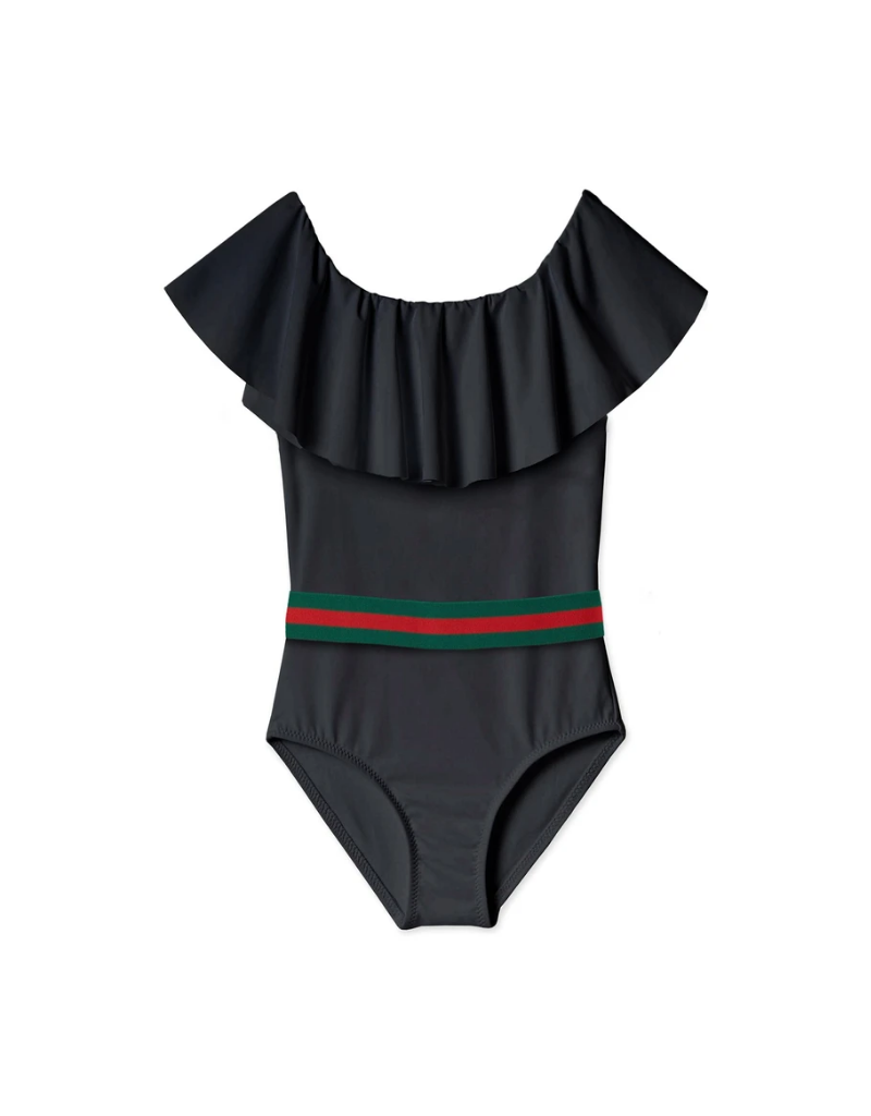 Stella Cove Stella Cove Baby  Draped Swimsuit with Belt