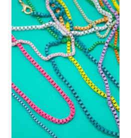 Jeweliette Jewels Jeweliette Colorful Chain Necklace