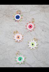 Jeweliette Jewels Jeweliette Colorful Evil Eye Necklace Charm