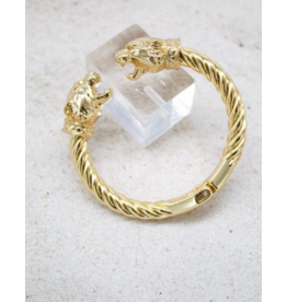 Jeweliette Jewels Jeweliette Lion Bangle Bracelet
