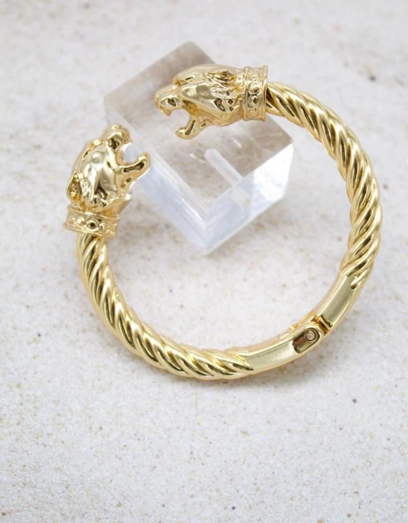 Jeweliette Jewels Jeweliette Lion Bangle Bracelet