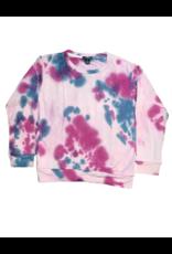 Global Love Global Love Adult Pink Tie Dye Sweatshirt