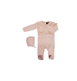 Small Moments Small Moments Kinit Romper with Hat