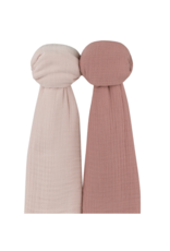 Ely's & Co Ely's & Co Two Pack Solid Cotton Muslin Swaddle Blanket