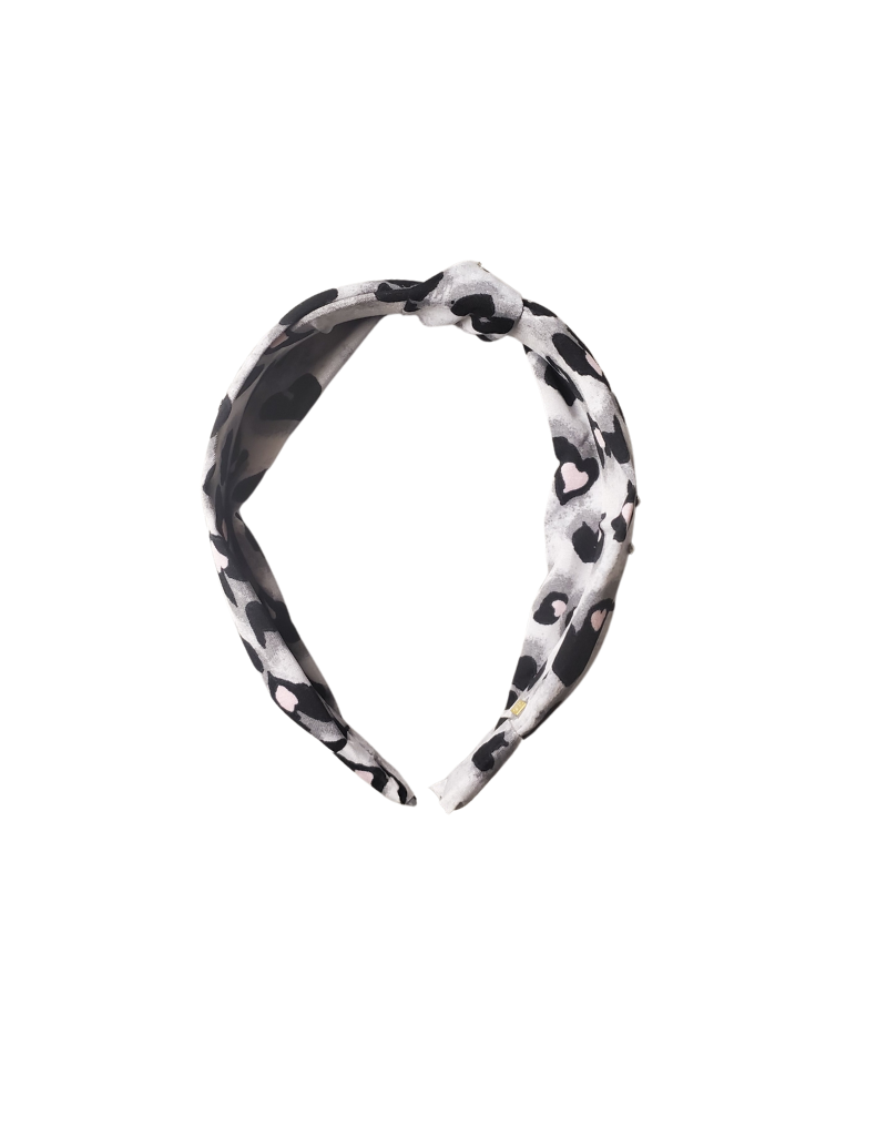 Bari Lynn Bari Lynn Leopard Heart Knot Headband