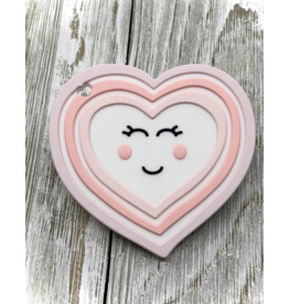 Little Cheeks Silicone Teether Heart