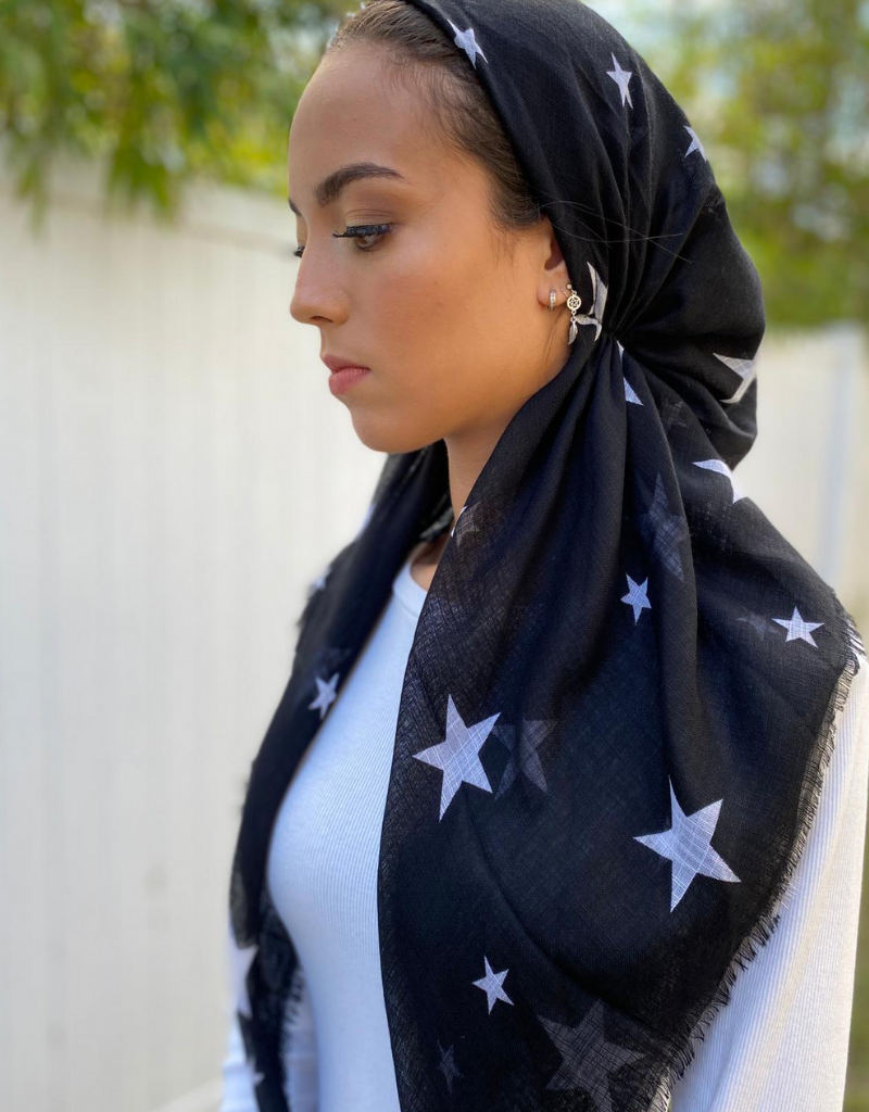 The Scarf Bar The Scarf Bar Pretied Stars Headscarf