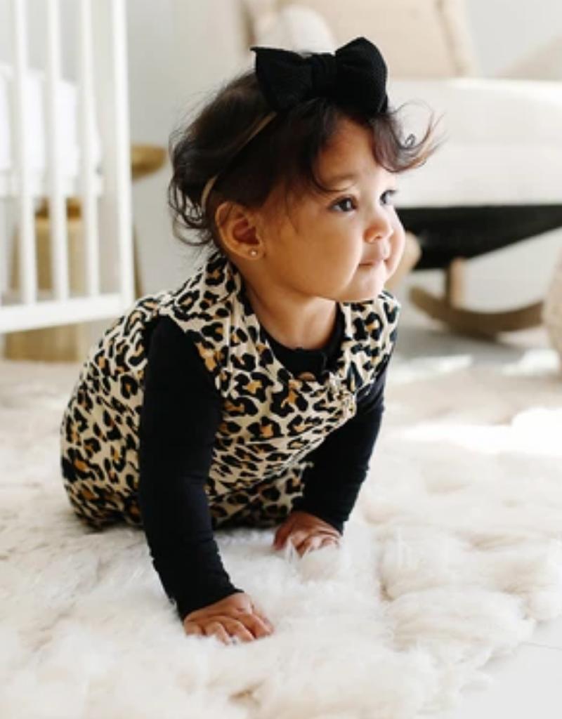 Posh Peanut Lana Leopard Tan Sleeveless Ruffled Sleep Bag 1.0 Tog