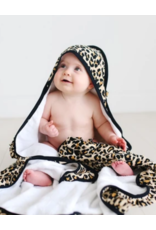 Posh Peanut Posh Peanut Lana Leopard Tan Ruffled Hooded Towel