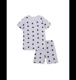 Bon Rever Bon Rever Gray Cotton Apple Print Pajama