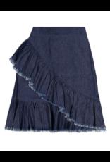Teela Teela Denim  Cross Over Ruffle Skirt