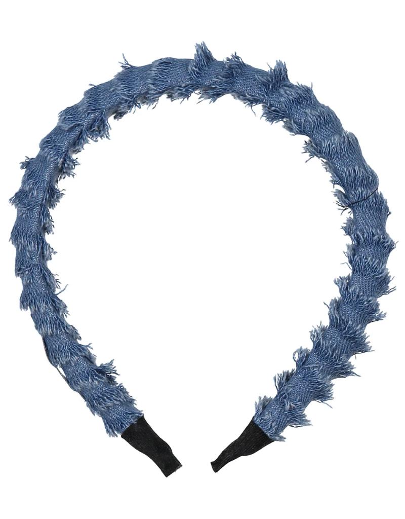 Knot Knot Denim Fringe Headband