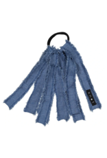 Knot Knot Denim Fringe Hair Tie