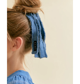 Knot Knot Denim Fringe Hair Tie