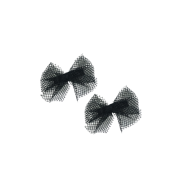 Bandeau Bandeau Netting Mini Bow Clip Set