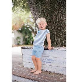 Maniere Montee Infant Horizontal Striped Short Sleeve Shirt