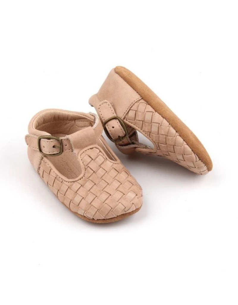 Consciously Consciously Woven T-Bar-Soft Sole Shoes