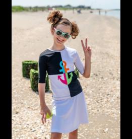 Teela Teela Anchor Girl Cut and Sew Section T-Shirt