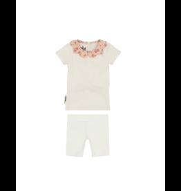 Maniere Maniere Infants Scalloped Collar Short Set
