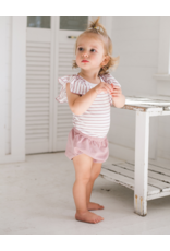 Montee Montee Infant Ruffle Sleeve Stripped Shirt with Bloomers