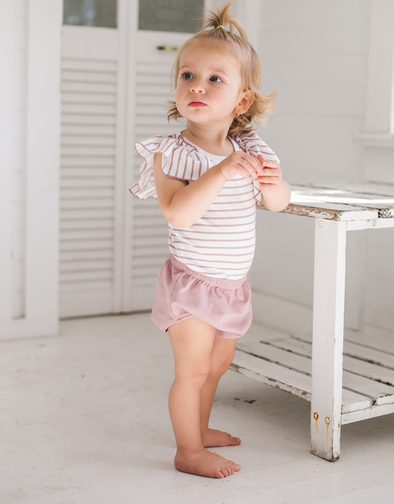 Montee Montee Ruffle Sleeve Stripped Shirt with Bloomers