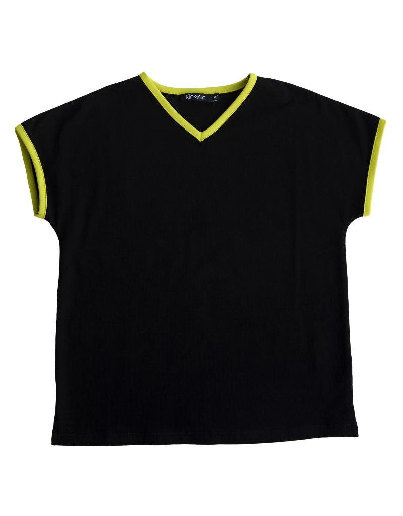 Kin + Kin Kin+Kin V-Neck T-Shirt
