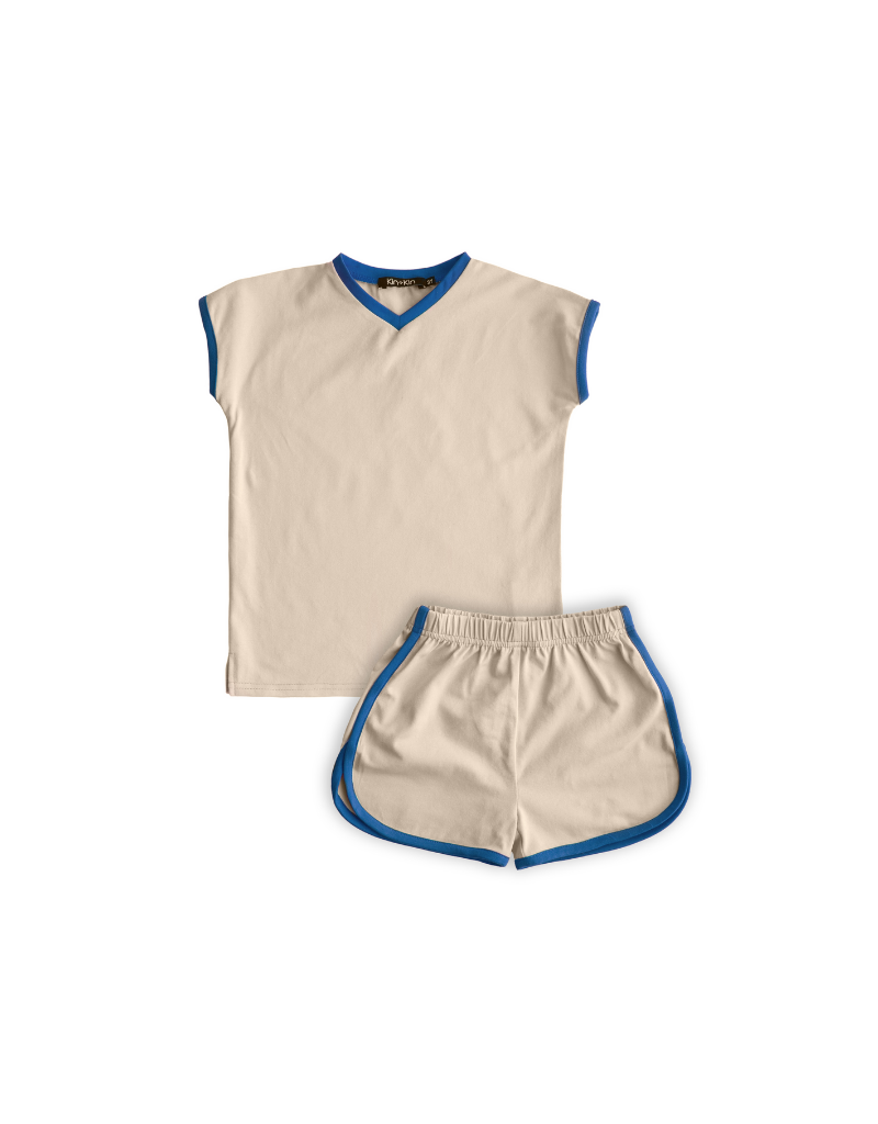 Kin + Kin Kin+Kin Infant V-Neck Track Set