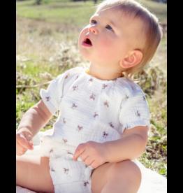 Kin + Kin Kin+Kin Infant  Muslin Cotton Printed Bloomer Set