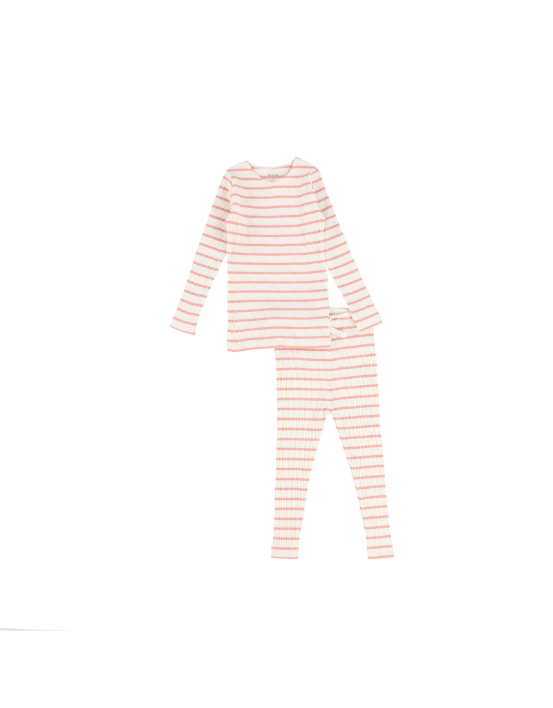 Bee and Dee Bee and Dee Stripped Ribbed Loungewear