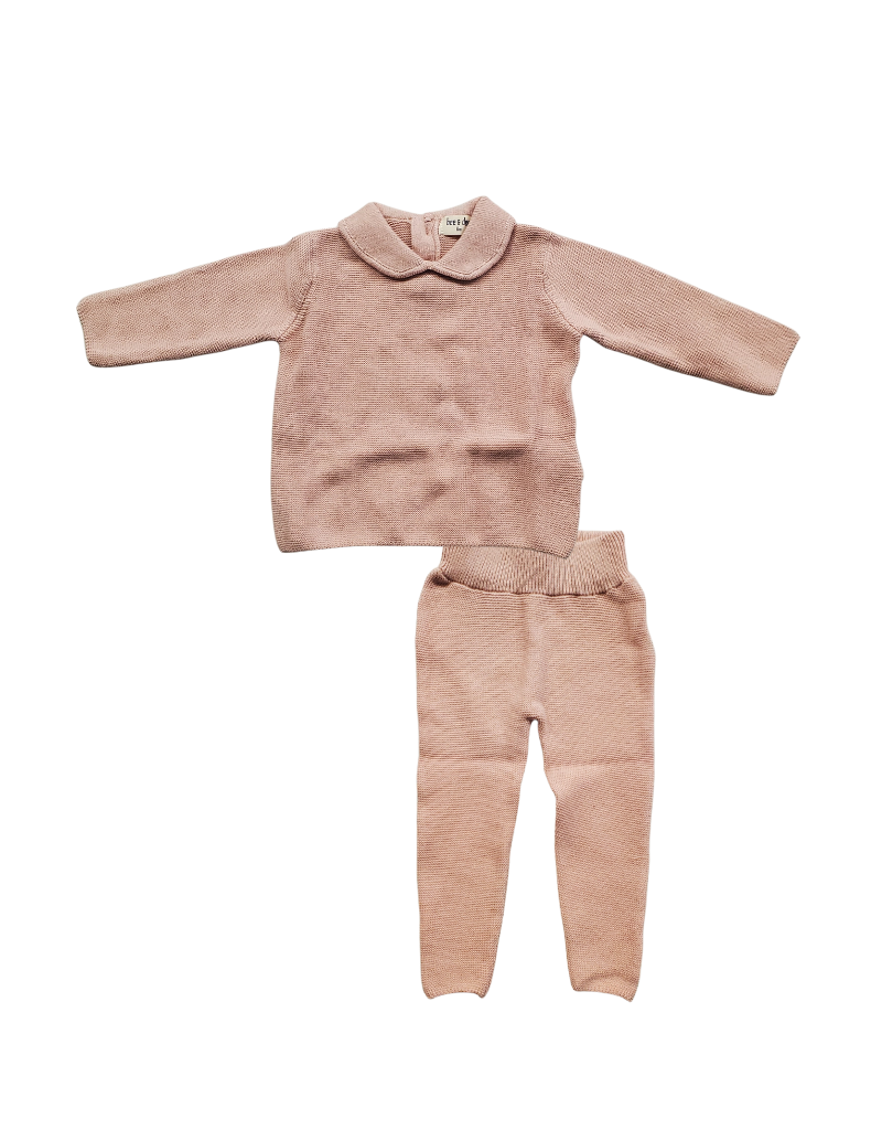 Bee and Dee Bee and Dee Infant Knit Two Piece-Peter Pan