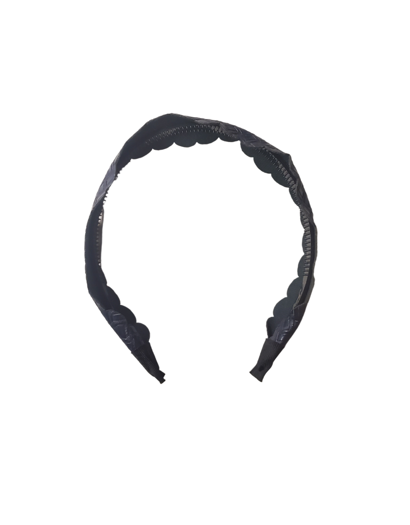 Jelly Bean Jelly Bean Leather Scallop Wide Headband