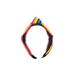 Jelly Bean Jelly Bean Knit Multi Stripe Knot Headband