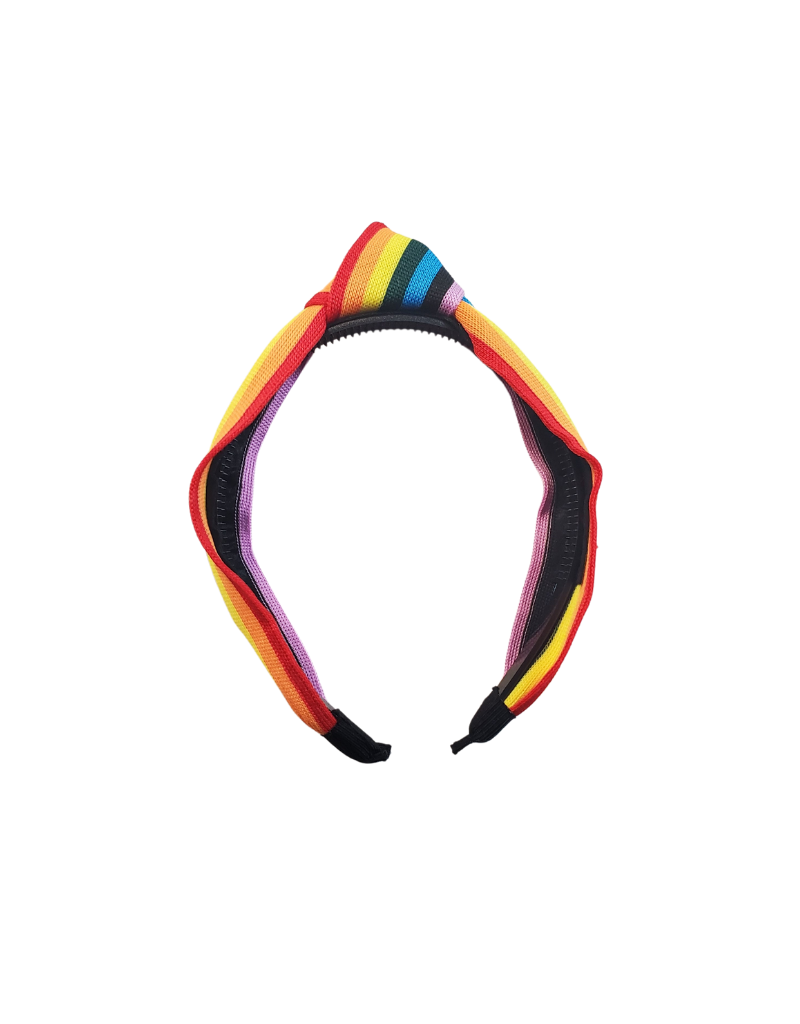 Jelly Bean Jelly Bean Knit Multi Stripe Knot Headband