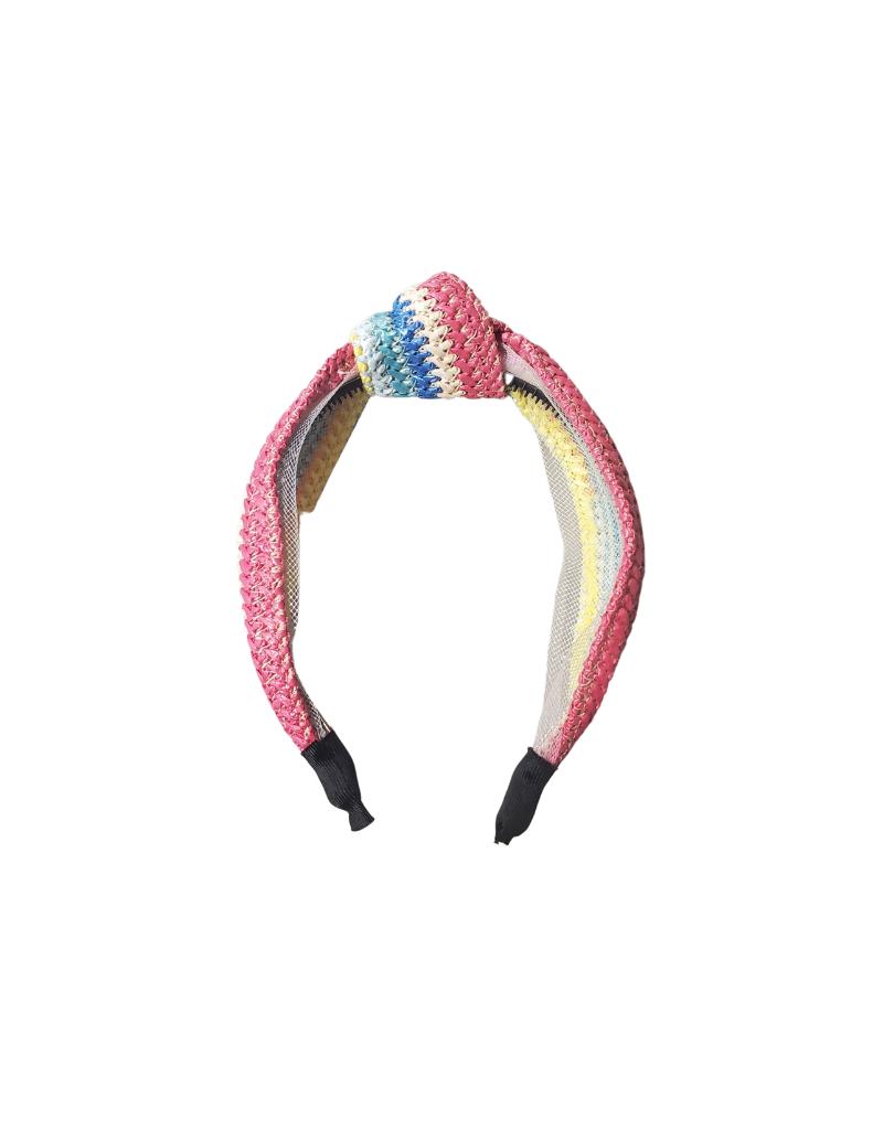 Jelly Bean Jelly Bean Straw Knot Wide Headband