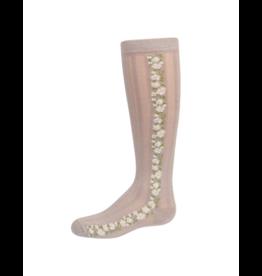 Zubii Zubii Textured with Vintage Floral Insert Knee Socks-365
