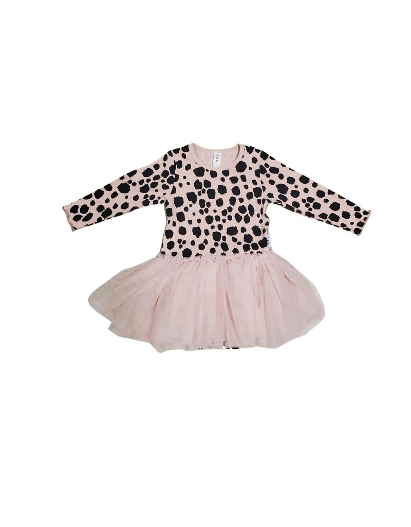Huxbaby Huxbaby Ocelot Rib Long Sleeve Ballet Dress