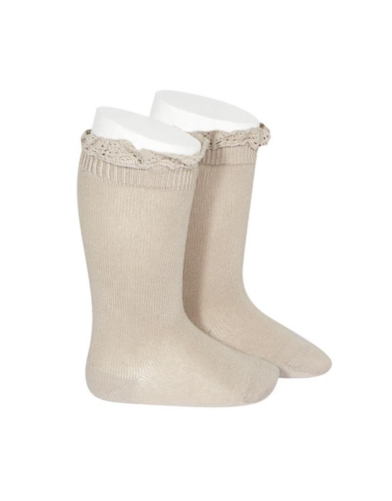 Condor Condor Knee Sock w/ Lace Trim 2409/2