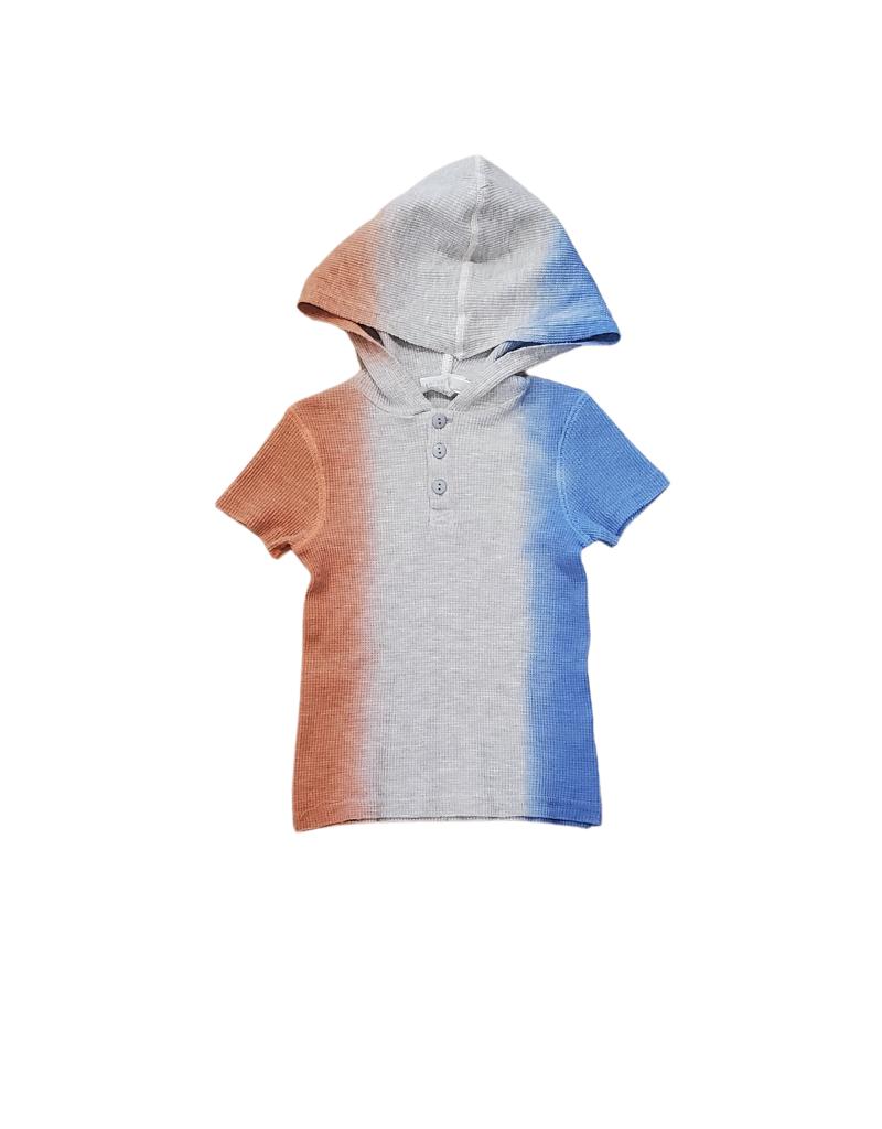 Bla Bla Bla Bla Waffle Knit Dip Dye Boys Shirt
