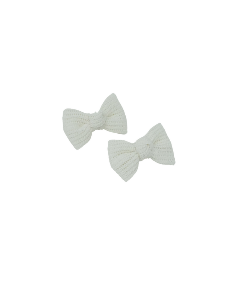 Bandeau Bandeau Crochet Knit Mini Bow Clip