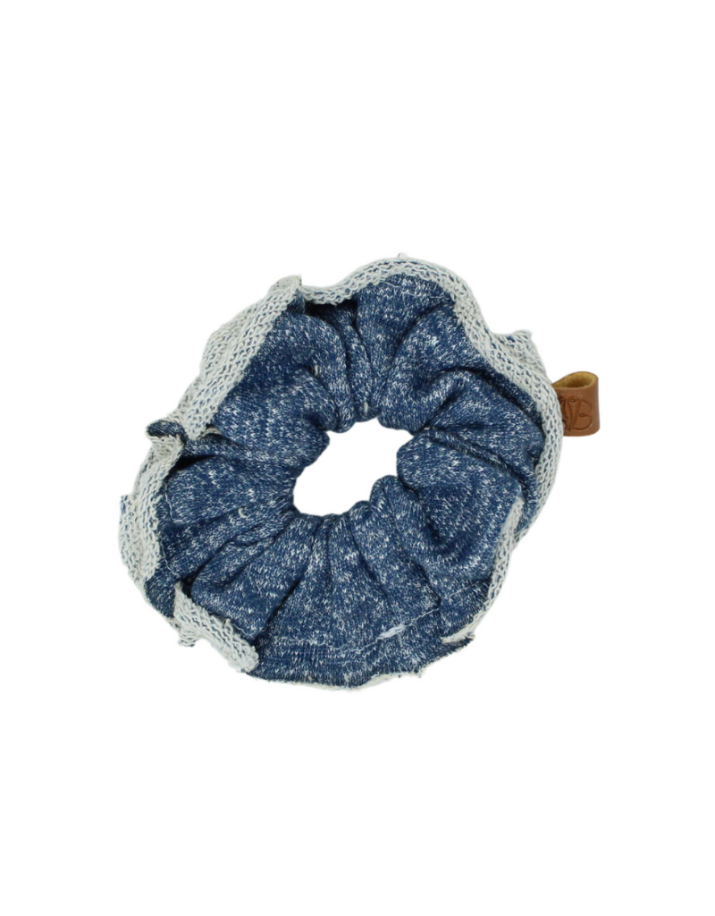 Bandeau Bandeau  French Terry Speckle Raw Edge Scrunchie